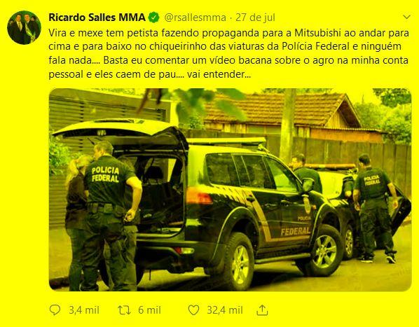 Tweet de Ricardo Sales
