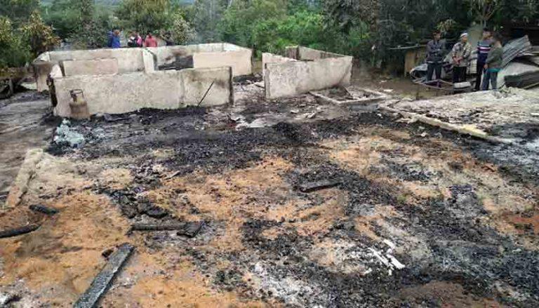 Lokasi rumah yang terbakar di Aceh.