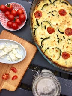photo Clafoutis salé aux courgettes, feta et tomates cerises