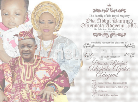 alaafin of oyo princess naming ceremony