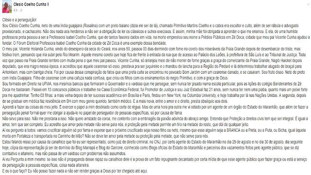 Juiz conta sua história e denuncia perseguição por parte do governo do Maranhão