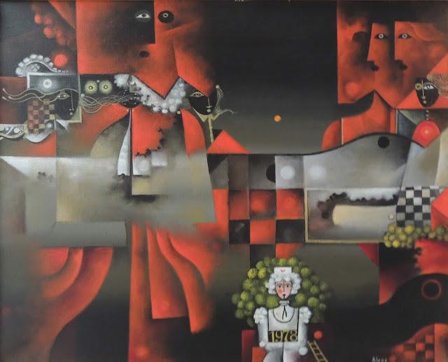 Eduard Alcoy cuadro surrealista rojo