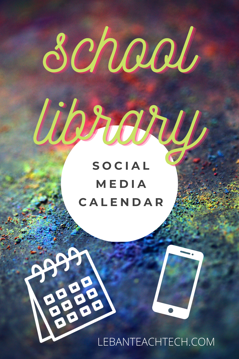 School Library Social Media Calendar Title Graphic