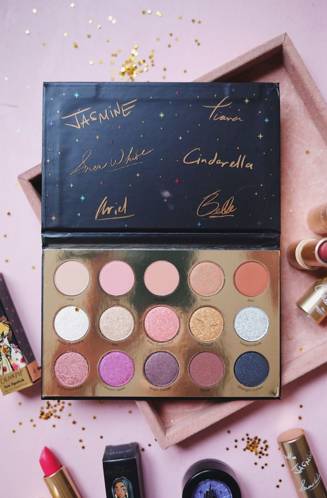 COLOURPOP , DISNEY , DISNEY DESIGNER,A Whole New World,Its A Princess Thing,