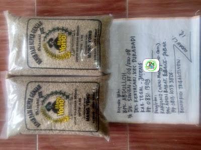 Benih padi yang dibeli ABDULLOH Tegal, Jateng. (Sebelum packing karung ).