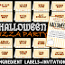 Halloween Pizza Party Ingredient Labels + Invitation - Developing Talents