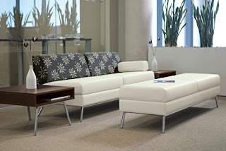 Two Tone Waiting Room Furniture at OfficeAnything.com