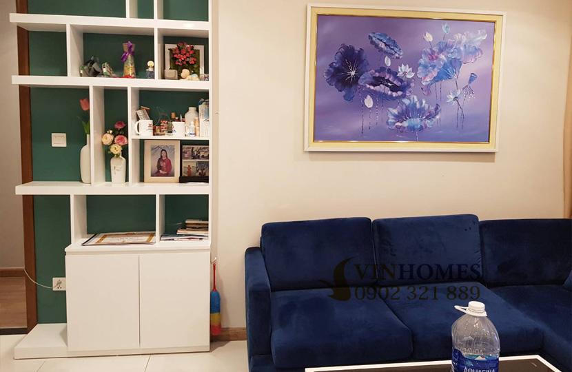 Căn hộ cho thuê 1PN tại Vinhomes Bình Thạnh view sông SG - sofa phòng khách
