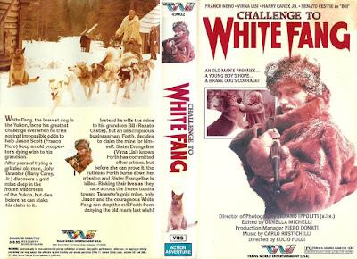 Carátula vhs: La carrera del oro / Colmillo blanco 2