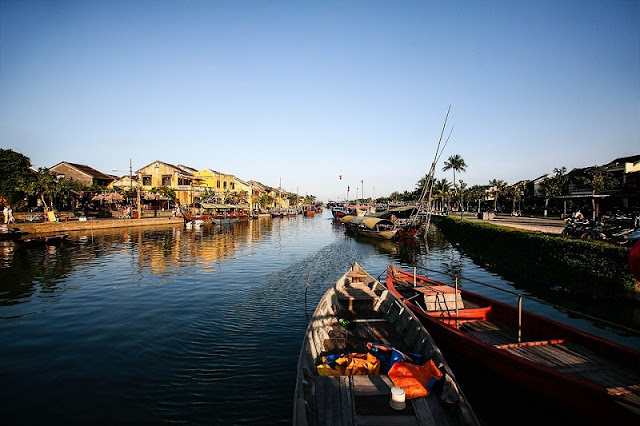 Hoai River - another symbol of Hoi An, Vietnam