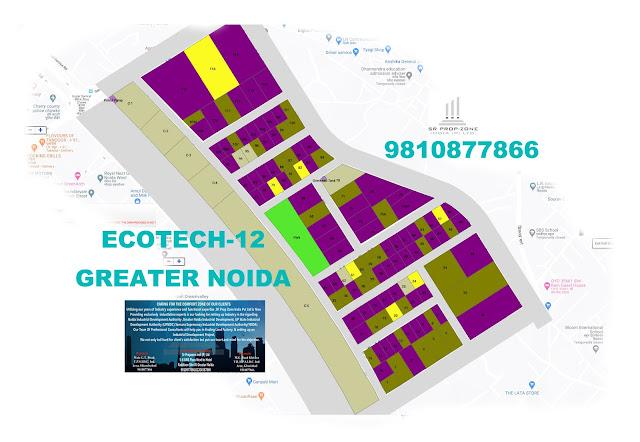 Layout Plan Of Ecotech-12 Greater Noida GPS Map