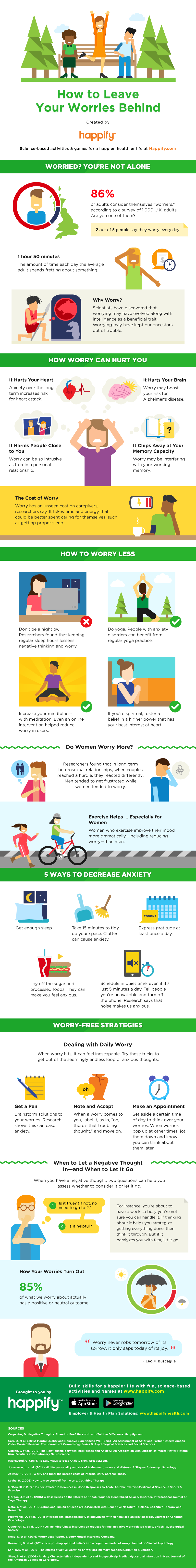 How To Leave Your Worries Behind - #infographic