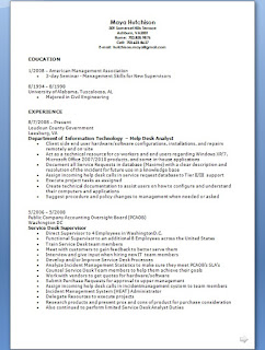 help desk analyst resume pattern in word format free download