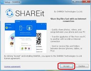 Cara Kirim File Dari Android ke PC Dengan SHAREit