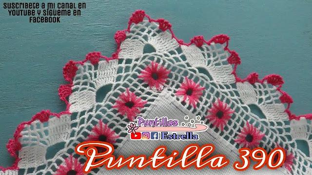 Hermosa puntilla a ganchillo para decorar manteles, toallas y pañuelos