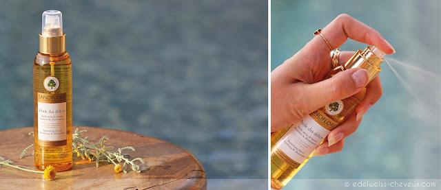 huile seche cheveux sanoflore cheveux naturel soin