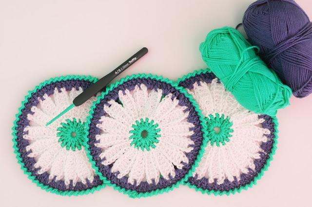 5 - Crochet Imagen Posavasos de margarita a crochet y ganchillo por Majovel Crochet