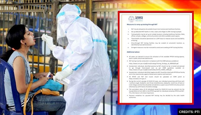 ICMR issues new testing guidelines for Covid-19.