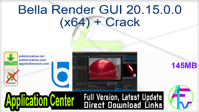Bella Render GUI 20.15.0.0 (x64) + Crack
