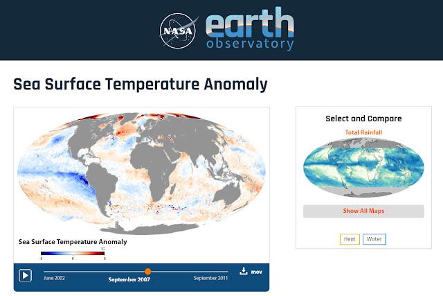 Mapy od Nasa - klimat