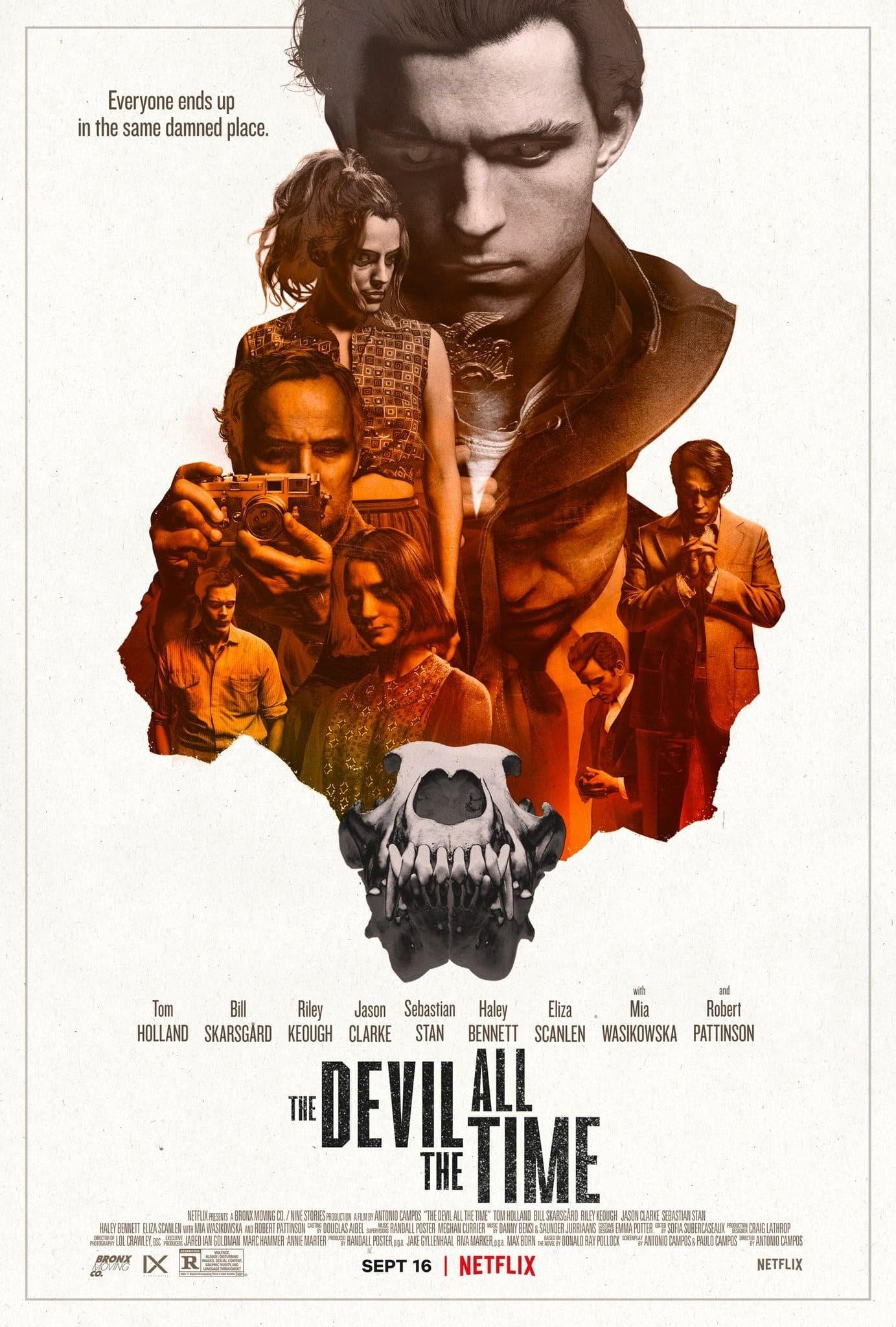 The Devil All the Time : スパイダーマンのトムとバットマンのロバート・パティンソンが対決する傑作スリラー小説の映画化「ザ・デヴィル・オール・ザ・タイム」の新しいポスター ! !