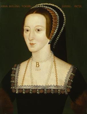 Elizabethan portrait of Anne Boleyn, possibly derived from a lost original of 1533-36