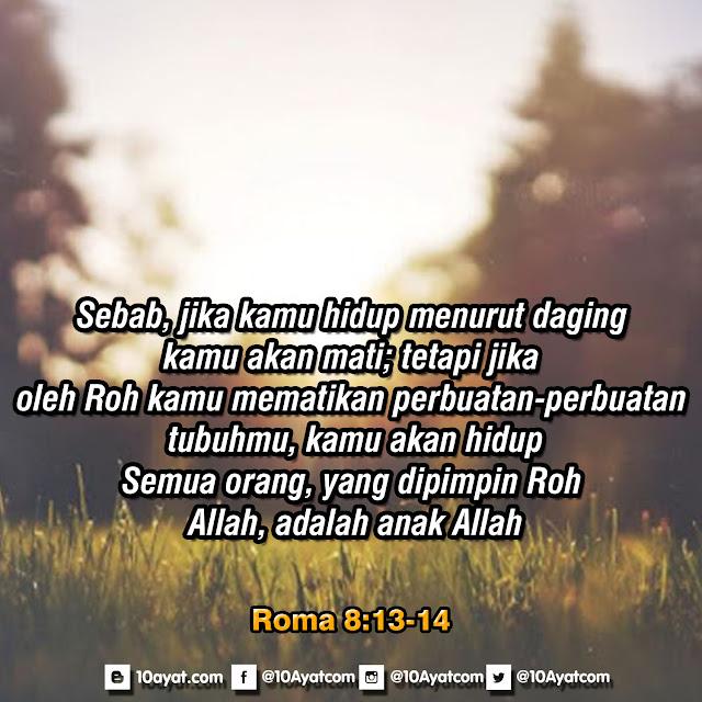 Roma 8: 13-14