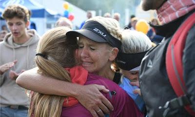 Holly Zimmermann Ziel Ultramarathon Mom Regensburg Landkreislauf Running