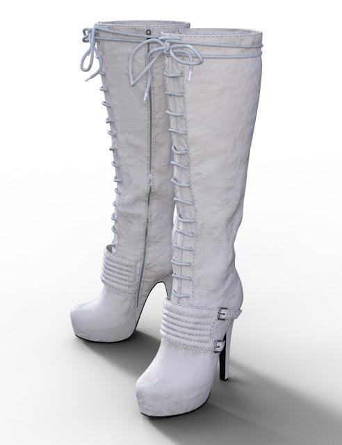 Platform Knee High Boot for Genesis 3 Female