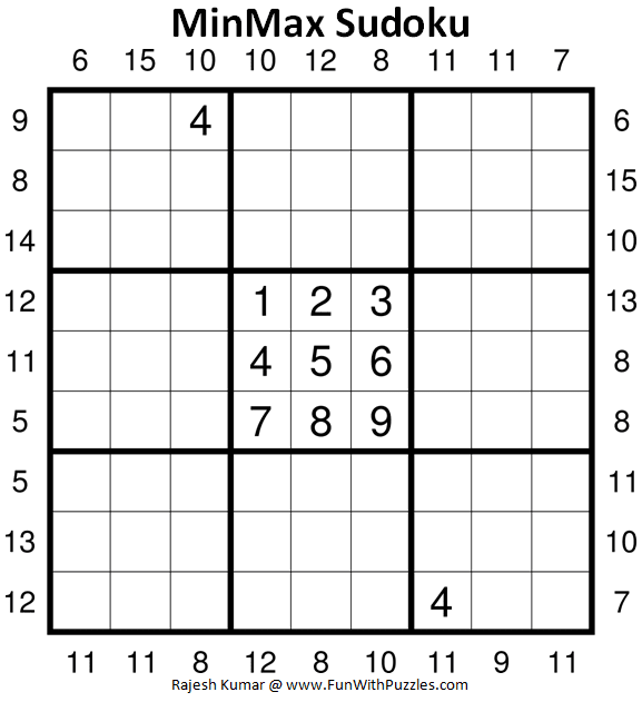 MinMax Sudoku Puzzles (Fun With Sudoku #368)