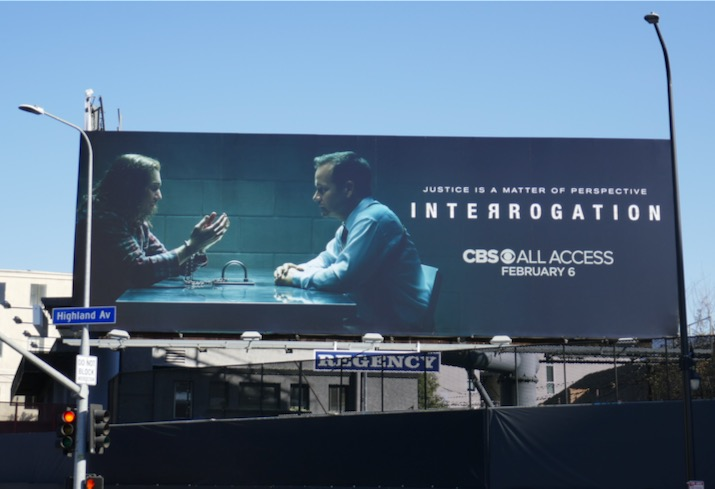Interrogation TV series billboard