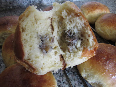 Milk bread rolls stuffed with sardines