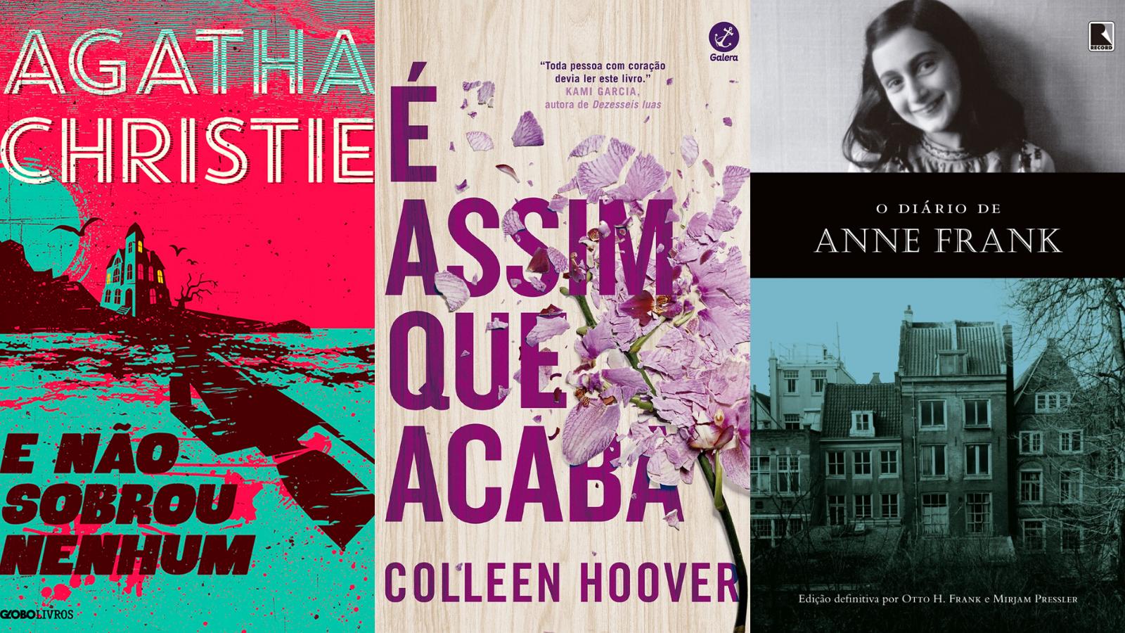 Lista conta com obras de Agatha Christie e Anne Frank