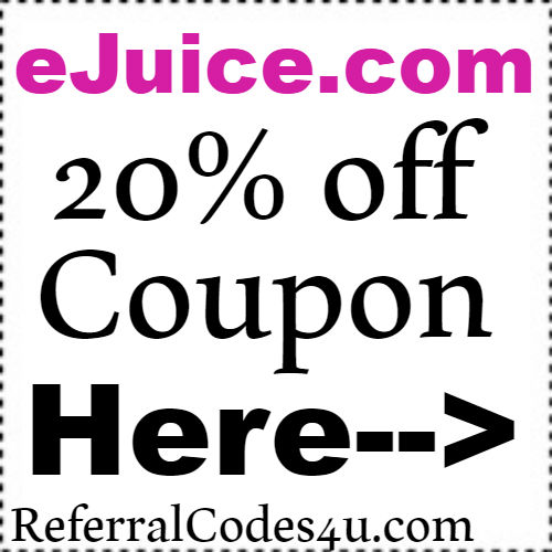 eJuice.com Discount Code, Coupon and Cashback 2018 Jan, Feb, March, April, May, June