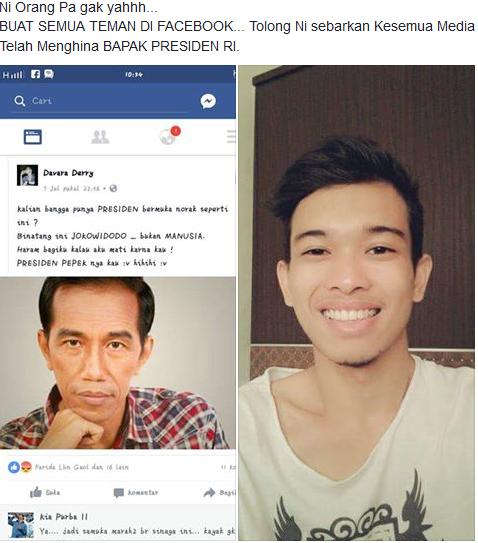 menghina presiden Jokowi