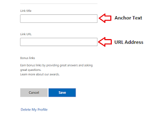 Type The Link Anchor Text And URL Address
