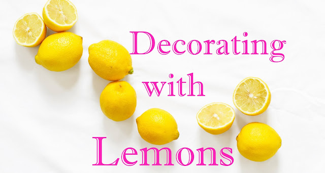 lemon place setting, decoartating with lemons, lemon decor, lemon table