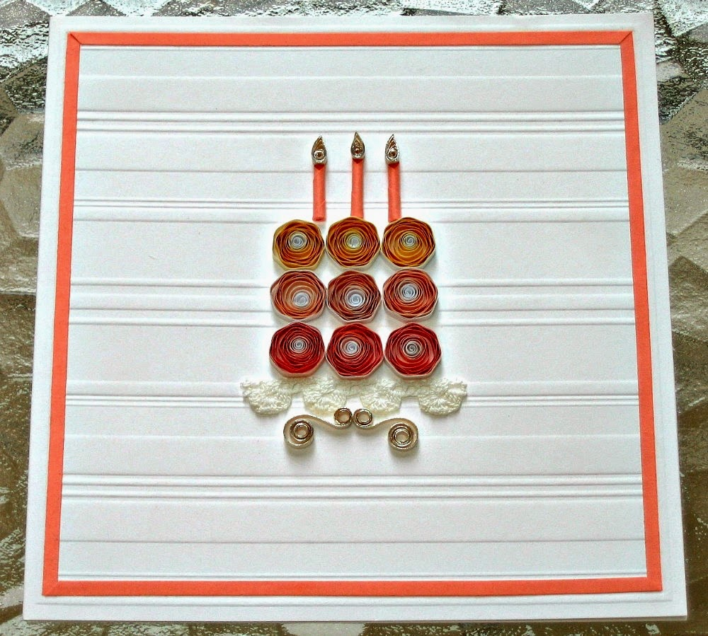 Quilled Birthday Cake with Paper Candles Card