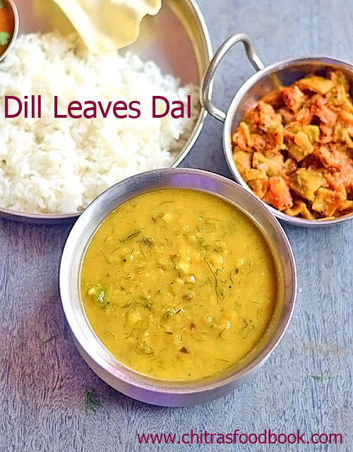Dill leaves dal recipe