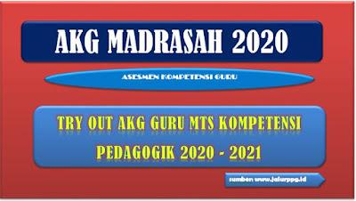 Try Out AKG Guru MTS Kompetensi Pedagogik 2020 - 2021