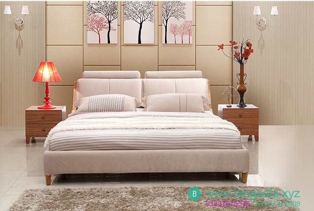 Mẫu giường ngủ bọc nỉ cao cấp GN18
