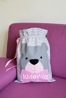sacchetto primo cambio bebè orsetto personalizzato