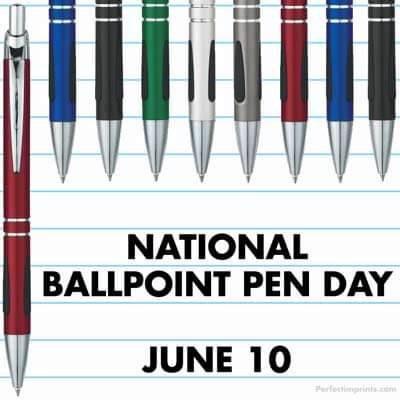नेशनल बॉलपॉइंट पेन डे। National ballpoint pen day- 10 जून