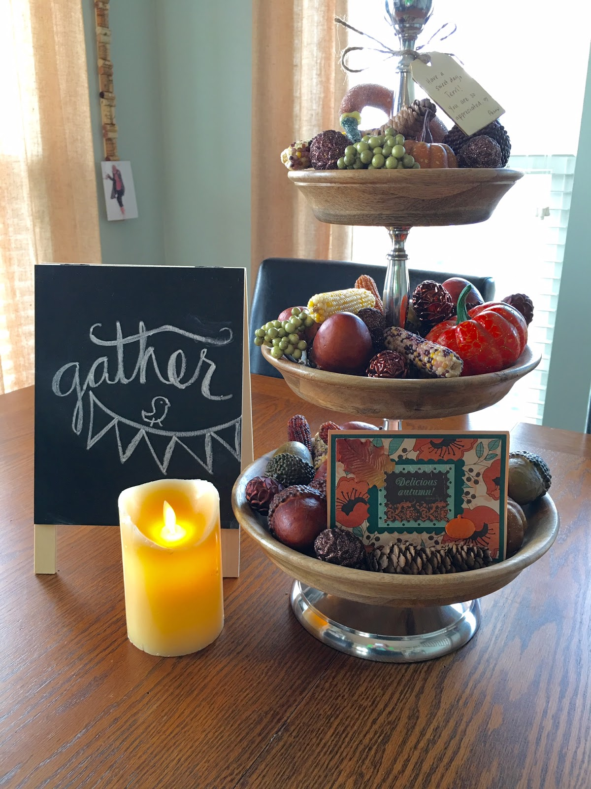 Trays For Decor On Kitchen Counter Ideas: Our Good Life: Using My Three Tier Tray For Fall Decor