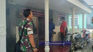 FOGGING ,BABINSA GARAHAN KORAMIL 0824/07 ANTISIPASI WABAH DEMAM BERDARAH KABUPATEN JEMBER