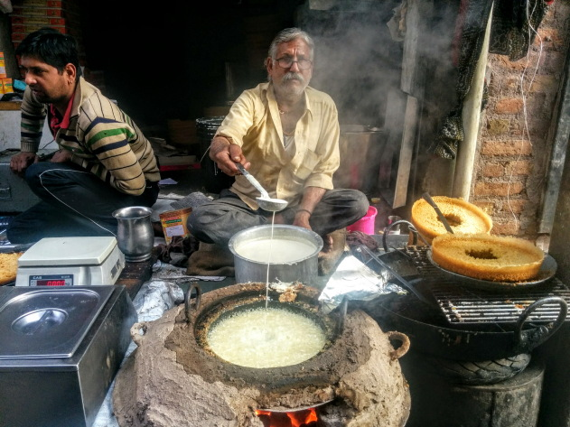 The making of ghewar, Rajasthan's famous dessert