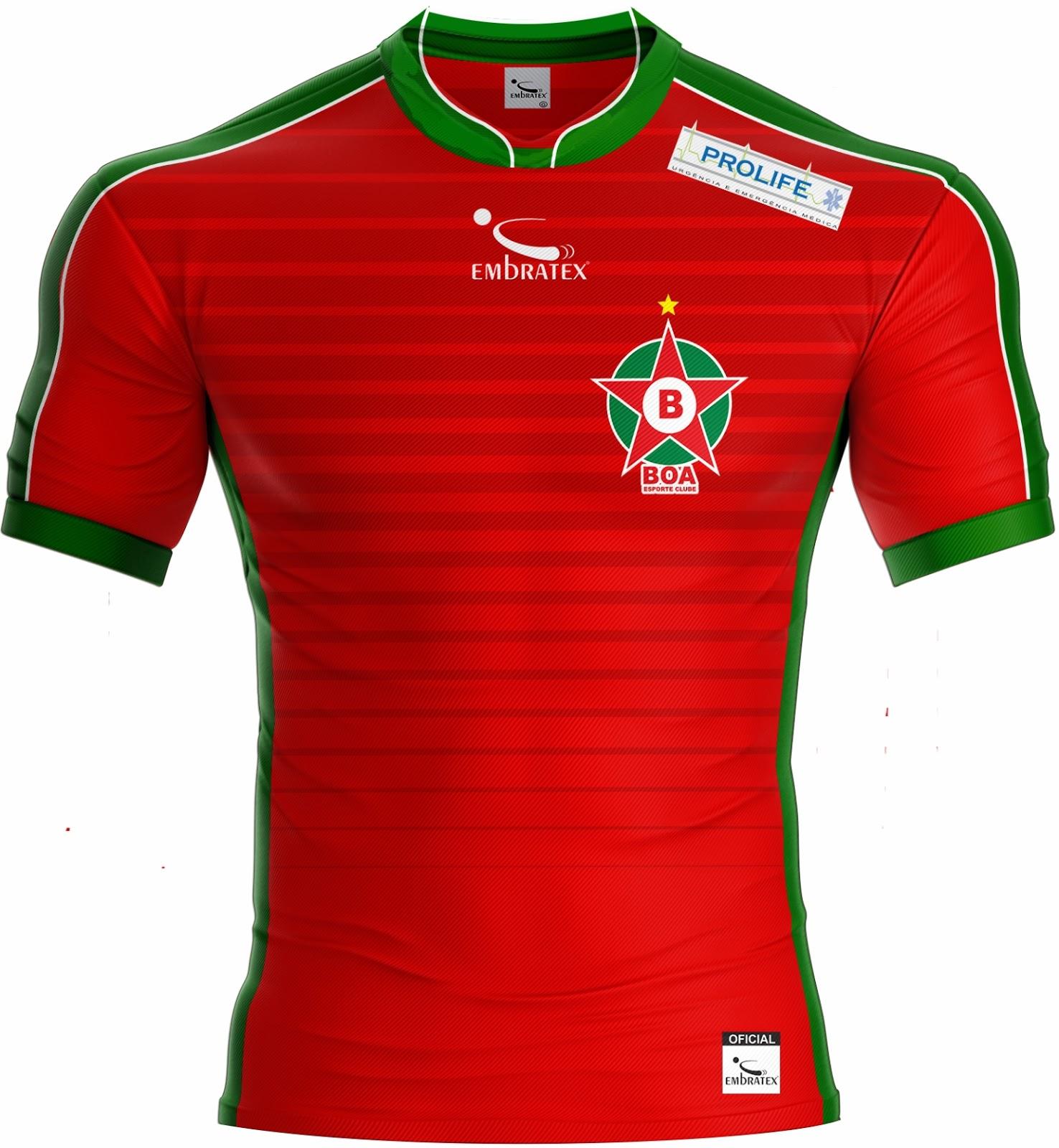 Embratex lança as novas camisas do Boa Esporte - Show de Camisas e7c9ba4994326