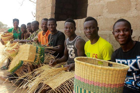 Basket Weaving Ghana : Moon to june