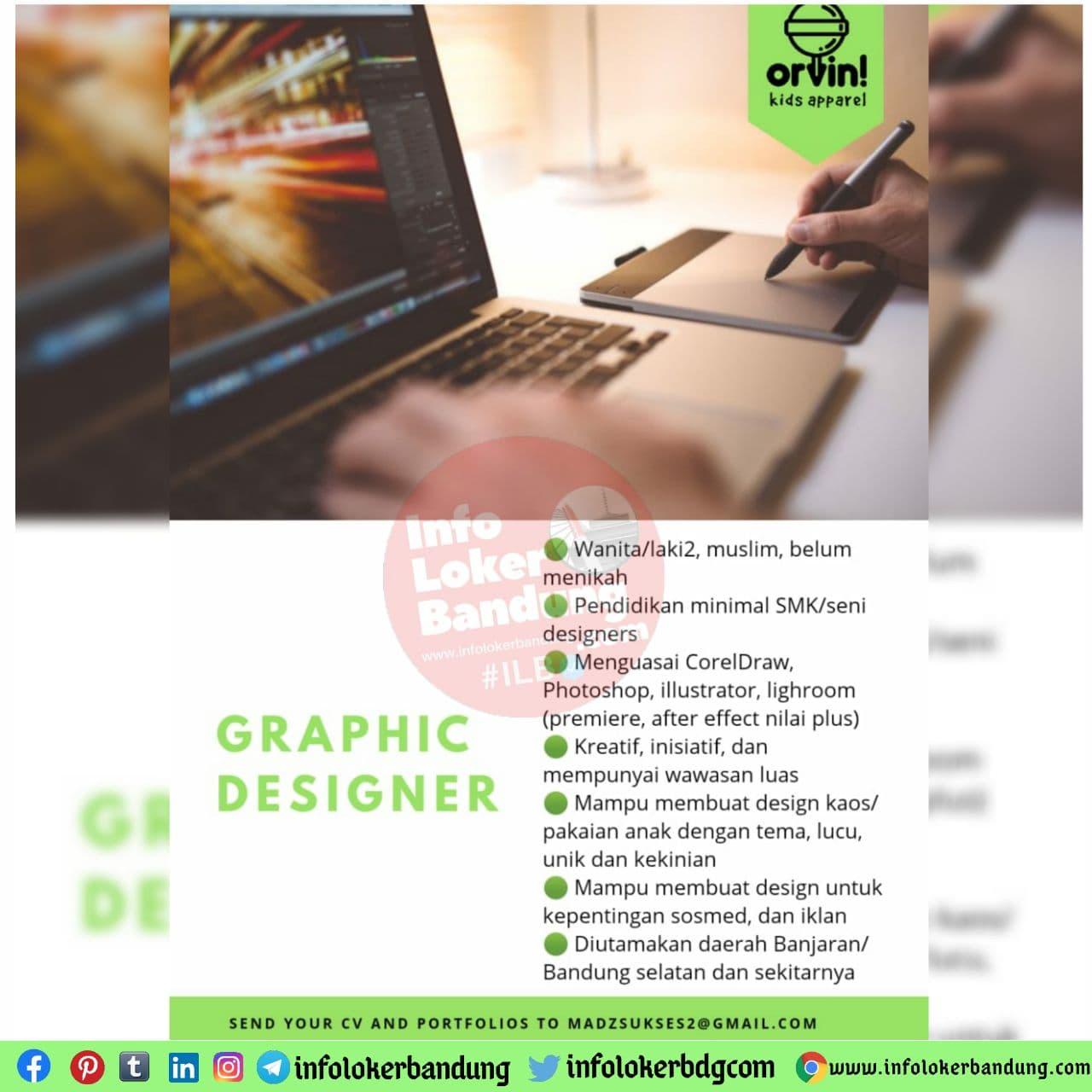 Lowongan Kerja Graphic Designer Orvin Kids Apparel Bandung November 2020