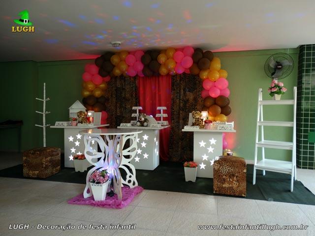 Decoração festa da Oncinha - Mesa decorada para festa de aniversário feminino